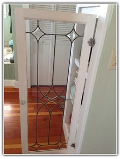 Leaded glass cabinet door Leaded Glass Cabinets, Glass Cabinet Doors, Glass Doors, Bath Cabinets, Built In Bookcase, Stained Glass Patterns, Panel Doors, Glass Panels, Master Bath