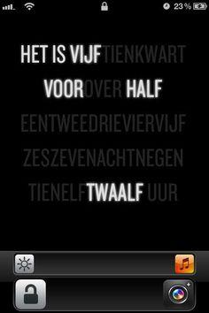 Nederlandse woord klok voor de iPhone
