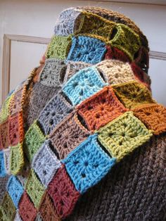 Now I know what to do with all those little crochet squares I once made...