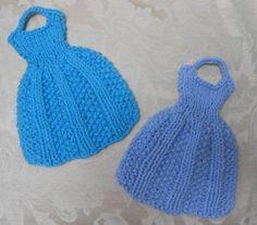 (6) Name: 'Knitting : Let's Go to Paris Knit Dress Dishcloth