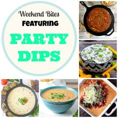 Weekend Bites: Party Dips. Share your recipes on the link up