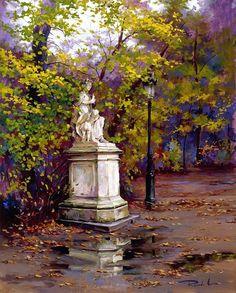 Kai Fine Art is an art website, shows painting and illustration works all over the world. John Singer Sargent, Pastel Landscape, Landscape Art, Spanish Art, Spanish Painters, Great Paintings, Western Art, Portrait Art, Pretty Pictures