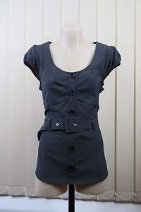 Size L 14 Ladies Short Grey Skirt Business Office Corporate Casual