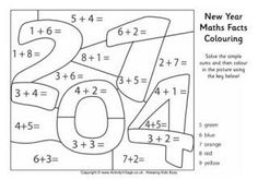 2014 New Year Colouring in sheet. Do a little bit of maths as well. http://www.activityvillage.co.uk/new-year-colouring-pages