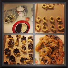 Susamli Corek , Turkish Pastry which i'm addicted to .
