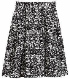 Jupe longue jacquard noir et blanche H&M