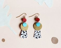 ethically-made leather & gemstone jewelry by scandinazn on Etsy