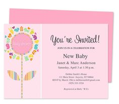 Sweetness Baby Shower Invitation Template