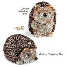 Hedgehog Collectible Box - Available today at Catalog Favorites. Shop for casual and novelty clothing, T-shirts, accessories, jewelry & décor. Hedgehog Box, Happy Hedgehog, Hedgehog Accessories, Unique Gifts, Great Gifts, Seasonal Celebration, Mini Things, Trinket Boxes, Collection
