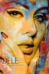 Musician Posters - Adele Poster by Corporate Art Task Force