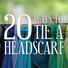 Need some ideas to make your noggin' look fancy? We've got you covered with 20 different fancy ways to tie a headscarf. #headscarf