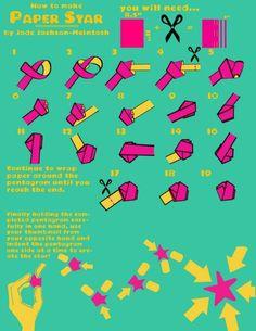 Идея: как сделать объемные звездочки из бумаги   Панель идей