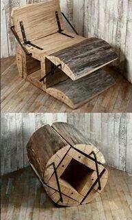 A true log chair!