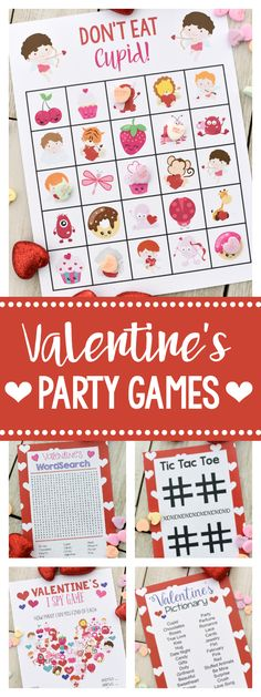 5 Fun Valentine Games to Print and Play #valentines #valentinegames