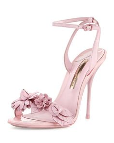 Lilico Floral Leather Sandal, Pink by Sophia Webster at Neiman Marcus. Pretty Shoes, Beautiful Shoes, Cute Shoes, Me Too Shoes, Dream Shoes, Shoe Boots, Shoes Heels, Pumps, Wedding Shoes
