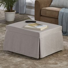 Our Ottoman/Sleeper transforms from a comfortable ottoman to a cozy bed in just seconds. Simply remove the slipcover, un.Buy Now, Pay Later with Wards Credit! Ottoman In Living Room, Living Room Furniture, Home Furniture, Sofa Bed For Small Spaces, Small Rooms, Sleeper Ottoman, Chair And Ottoman, Apartment Chic, Shoe Cabinet