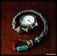 pocket watch with paracord watch fob/lanyard
