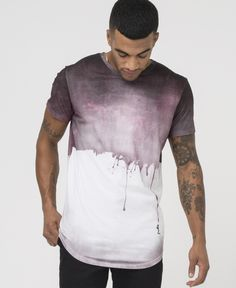 SOFT DRIP TEE - CORDOVAN - New in - £35