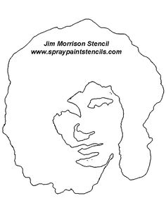 Free People Stencils - Page 3 Jim Morrison stencil, download for free, coool!