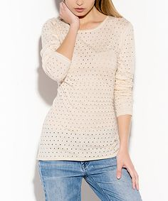 Look at this Pima Doll Vanilla Perforated Kara Top on #zulily today!