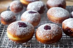 jelly doughnuts - made these today with homemade raspberry jam.  Best.