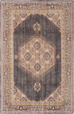 Mirabelle Rug, Charcoal and Beige 2x3, or 3'6x5'6