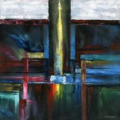 "'IO Tower' by Andrew Keola | $250 | 30""w x 30""h | Original Art | https://www.arttwo50.com/buy/art/io-tower"