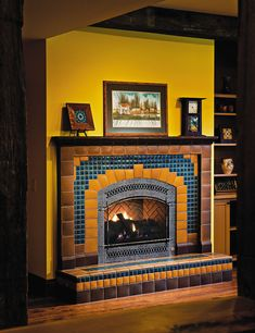 Craftsman Fireplaces   Motawi Tileworks