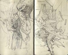 sketchbook page II, daniel Chavez on ArtStation at http://www.artstation.com/artwork/sketchbook-page-ii