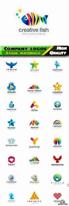Business company badge logotype and logo emblem 6 - 25 Eps