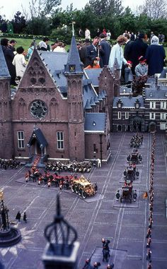 Coronation of Queen Elizabeth, 35mm from slide Holland,  Madurodam ca.1960s.