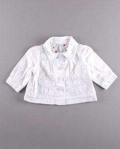 Chaqueta de algodón blanco (talla 3 meses) 5,75€ http://www.quiquilo.es/bebe-nina/774-chaqueta-de-algodon-blanco.html