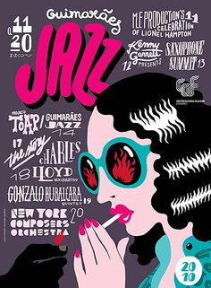hand rendered type and illustrations by Atelier Martino and Jaña from Portugal for the 2010 Guimarães Jazz posters.