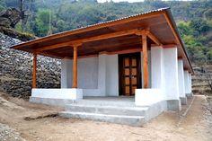 Completed-earthbag school Nepal 2