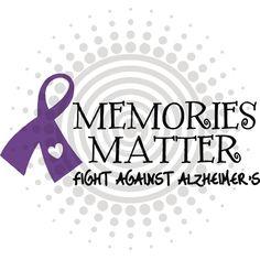Alzheimer's Awareness | ... FREE -Memories Matter - ALZHEIMER'S Awareness - Vinyl Decal Sticker