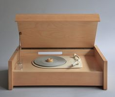 An earlier version of the record player and one of a foundational group of designs produced in the inaugural year of Braun Design. Braun G 12 (Valvo chassis) by Hans Gugelot, on sale for Record Players, Design Blog, Deco Design, Box Design, Radios, Innovation Design, Business Innovation, Product Design, Industrial Design