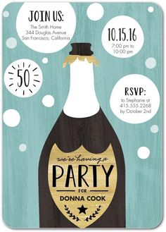 RSVP to a party that's about to pop. Invite friends over for an adult birthday party and bring out the bubbly.