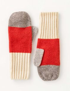 Colourblock Mittens AD239 Gloves at Boden