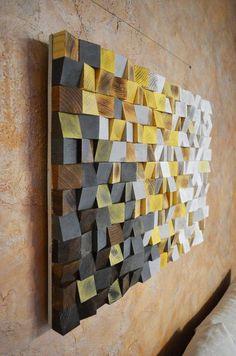 Wood Wall Art Winter Is Coming Reclaimed Wood Art 3 D Wall Art Decor Wood Mosaic Wood Sculpture Abstract Painting Geometric Wall Art - Painting Reclaimed Wood Wall Art, Wooden Wall Art, Diy Wall Art, Wall Art Decor, Wood Wood, Mural Wall, 3d Wall, Wooden Diy, Wall Collage