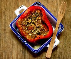 Receita: Tomates e Pimentões Recheados com Sardinha Gratinados