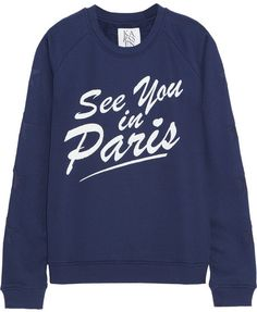 See You In Paris cotton-blend jersey sweatshirt