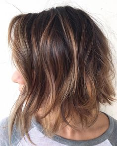 Messy+Caramel+Brown+Bob