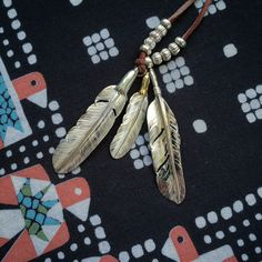 Larry Smith Feathers. (made in japan, pendant, necklace, gold, silver, eagle head, thunderbird, kapital)