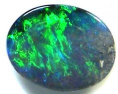 GEM GREEN FIRE BLACK OPAL  1.15 CTS JO 274