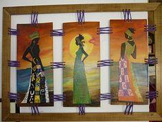CREACIONES DE SILVIA: Triptico de africanas de VERONICA F.