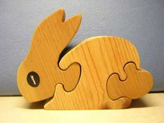 Toddler Puzzle - Cute 3 Piece Rabbit Puzzle