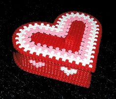 Heart shaped box perler beads by Avil