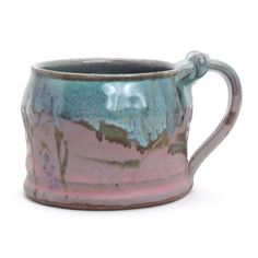 Shop: John Glick: Mug (Pink & Blue) - The Clay Studio