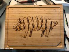 Pig Cutting Board pyrography 11x20 http://ift.tt/2xLqrl7
