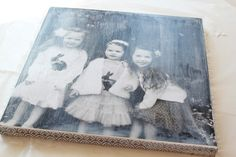 Make your own photo canvas. Nice idea. Very easy to make.